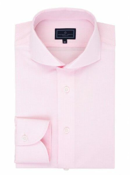 Różowa koszula w pepitę - Macaroni Tomato